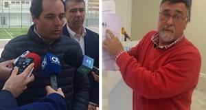El concejal del PP, Baldomero León (imagen drcha) y el portavoz de Ciudadanos en Marbella, Francisco Gómez, este lunes en sendas ruedas de prensa que han ofrecido. Fotos/ marbellaconfidencial.es
