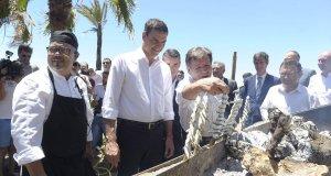 El actual presidente del Gobierno, Pedro Sánchez, en una imagen de 2016 en un chiringuito de Marbella. FOTO/ Marbella Confidencial