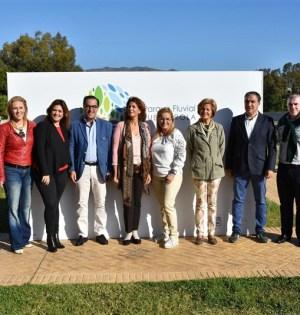 Autoridades del Gobierno central, Diputación y Mancomunidad este sábado en Fuengirola. FOTO/ EP