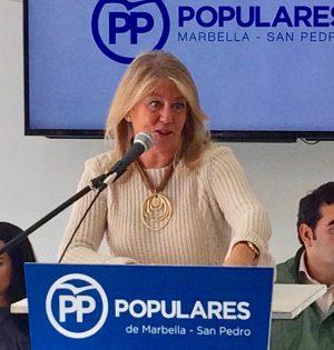 La presidenta del PP de Marbella, Ángeles Muñoz, interviene en el Comité Ejecutivo Local en imagen de archivo