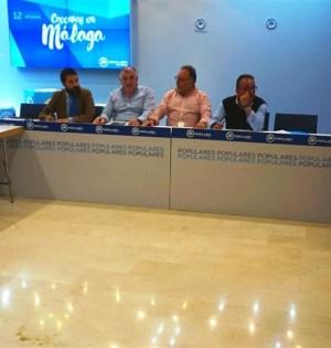 Imagen del acto que ha tenido lugar este martes en la sede del PP de Málaga. FOTO/ EP