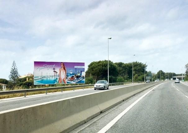 Imagen de la autovía A7 a su paso por el término municipal de Marbella