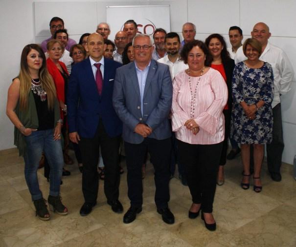 Foto de familia de los miembros de la Comisión Ejecutiva de OSP