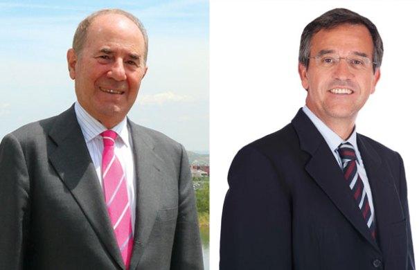 A la izquierda el empresario investigado (antes imputado) en el 'caso Lezo' Joaquín Molpeceres y a la drcha el alcalde de Estepona, José María García Urbano, del PP.