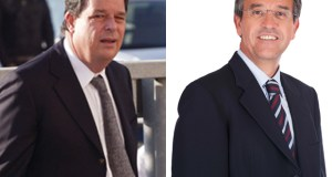 El abogado Juan Germán Hoffman durante el juicio por el caso Malaya, en 2011 y el alcalde de Estepona, José María García Urbano.
