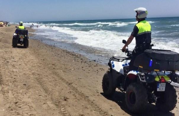Imagen de archivo la unidad de Playas de la Policía Local de Marbella. FOTO/ Ayto de Marbella