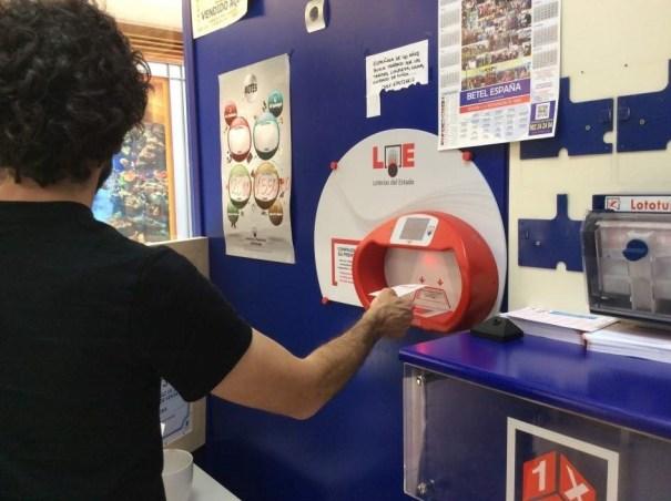 Imagen de una administración de lotería. Archivo EP