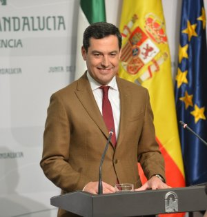 El presidente de la Junta de Andalucía, Juanma Moreno, en una imagen reciente. FOTO/ Junta
