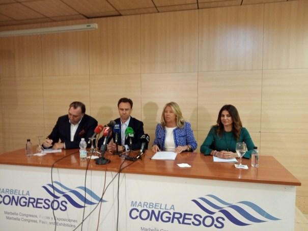 La alcaldesa de Marbella interviene en la presentación del evento turístico. FOTO// E.P