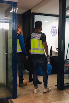 Imagen de la detención facilitada por la Policía Nacional este martes. FOTO/ CNP