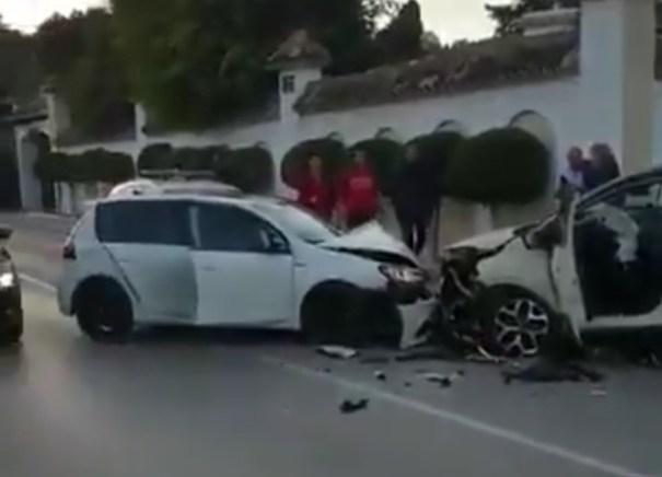 Fotograma de un vídeo del accidente difundido este martes en redes sociales