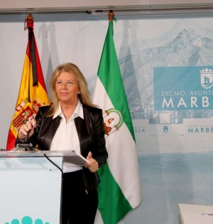 La alcaldesa de Marbella, Ángeles Muñoz, este lunes. FOTO/ Ayto de Marbella