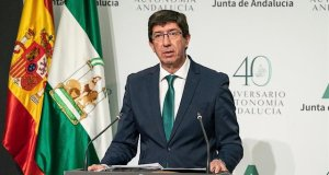El vicepresidente de la Junta, Juan Marín, durante una comparecencia reciente. FOTO/ Junta