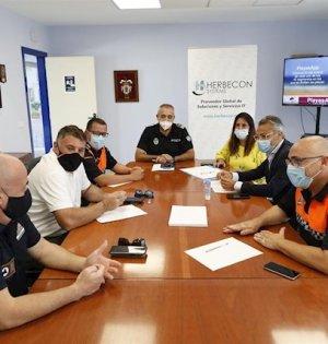 Imagen de la reunión de coordinación de playas celebrada este martes. FOTO/ Ayto de Marbella