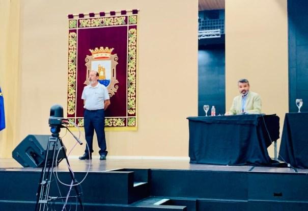 Imagen del portavoz del PSOE de Marbella, José Bernal, durante el pleno celebrado este lunes. FOTO/ PSOE