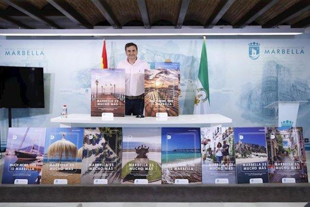 El portavoz del equipo de gobierno de Marbella, Félix Romero, presentando l campaña este viernes. FOTO/ Ayto de Marbella