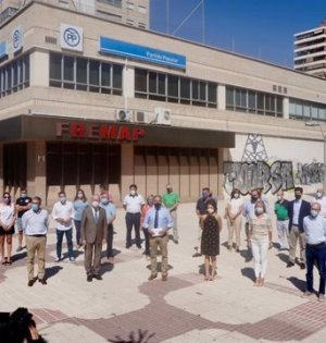 Imagen del acto protagonizado por alcaldes del PP de Málaga este lunes. FOTO/ PP