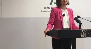 La delegada de la Junta en Málaga, Patricia Navarro, este jueves en rueda de prensa. FOTO/ Junta