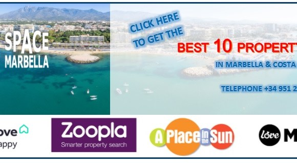 The average property price in Marbella is the sixth highest in the country
