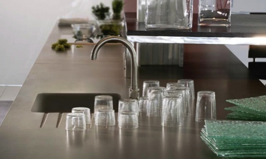 recycled glass kitchen countertops ideas for small kitchens galley grey expo quartz - silestone california ...