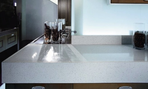 Mont Blanc Silestone Kitchen Countertops  Expert Installation  Fabrication  Color White
