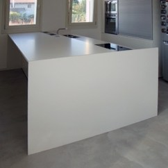 Types Of Kitchen Countertops Butcher Block Table Bianco Polare Lux - Lapitec In Bay Area ...