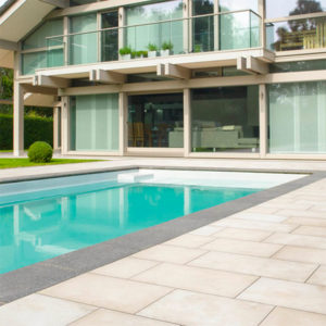 pool surround stone tile cleaning