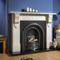 """Acanthus Corbel Marble Fire Surround 60"""""""