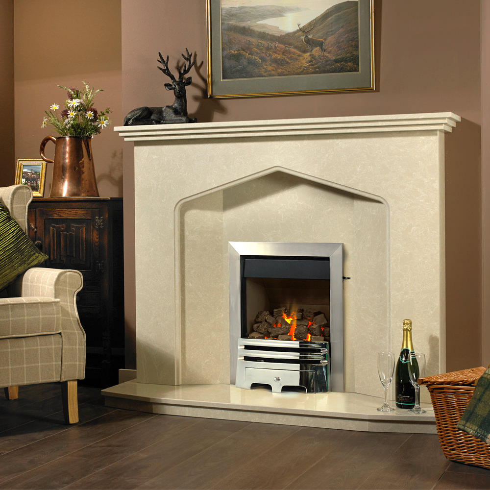Gas Fireplace With Chimney