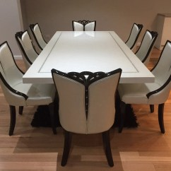 Chair For Dining Table Fishing Price Wow Bianca Marble With 8 Chairs King