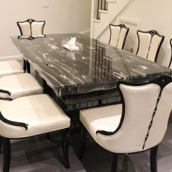 8 Chair Table Size Drafting Ergonomics Arezzo Marble Dining With Chairs King