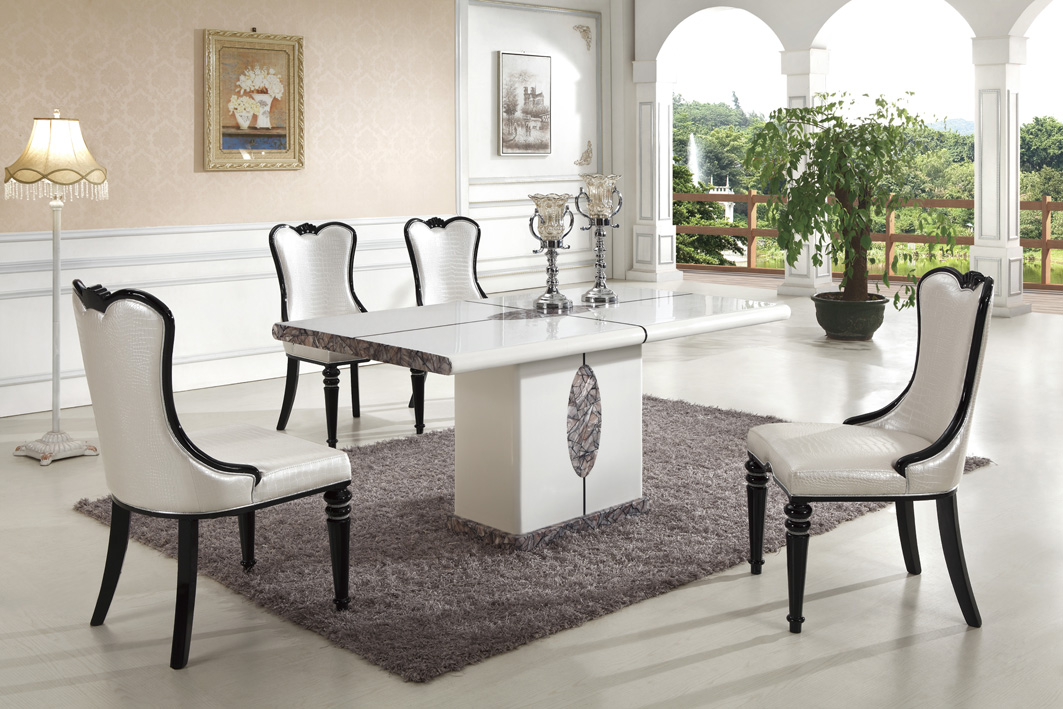 Ipoh Marble Dining Table With 8 Chairs Marble King