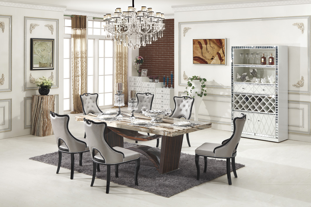 unique dining room tables and chairs plastic hand chair carrara marble table with 8   king