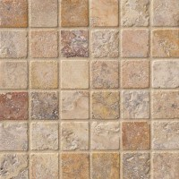2 x 2 Scabos Travertine Square Pattern Tumbled Finish ...