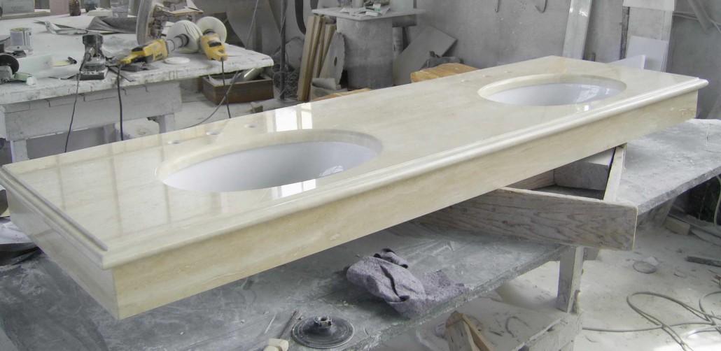 Top e Lavabi in Marmo Lavorazioni in Massello Vasche