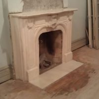 Marble Fireplace Restoration Service. Cleaning and Polishing