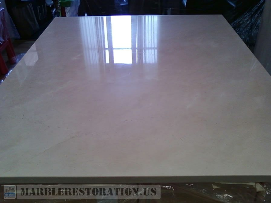 simple kitchen island what is the best paint for cabinets crema marfil countertop. water stains removal.