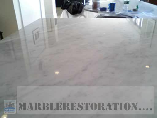 kitchen sink refinishing porcelain kraus sinks wax finish stripped. buffed to shine marble countertop