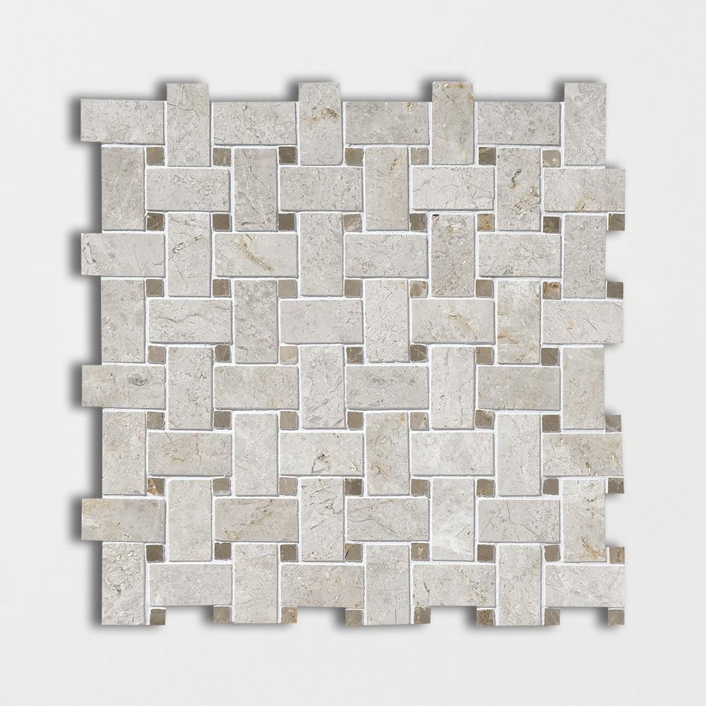 cement tile kitchen backsplash glass and stone silver clouds&tobacco polished basket weave marble mosaics ...