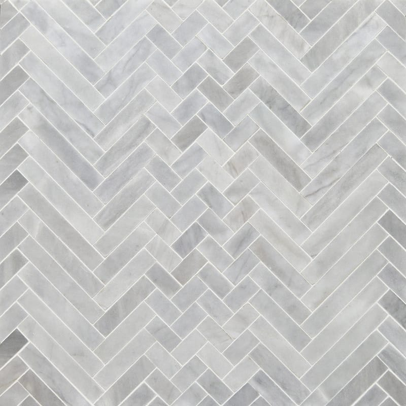 Avenza Honed Mixed Herringbone Marble Mosaics 16 56x12 116