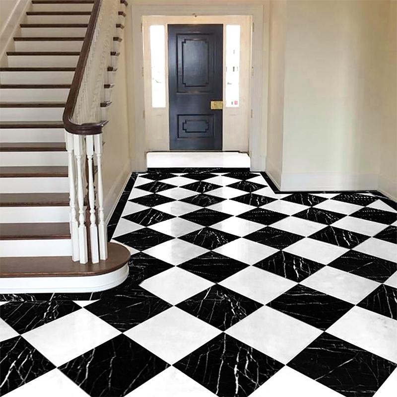 black polished marble tiles 12x12