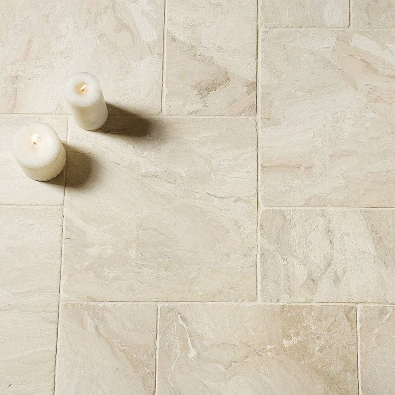 diana royal tumbled antiqued marble