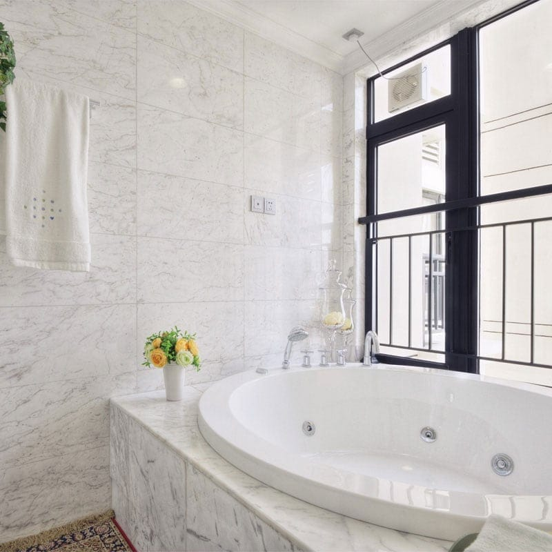 white carrara c polished marble tiles 12x24