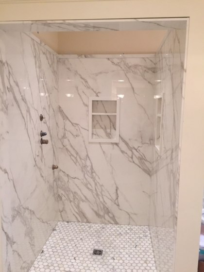 Shower Neolith Calacatta  Marble Trend  Marble Granite