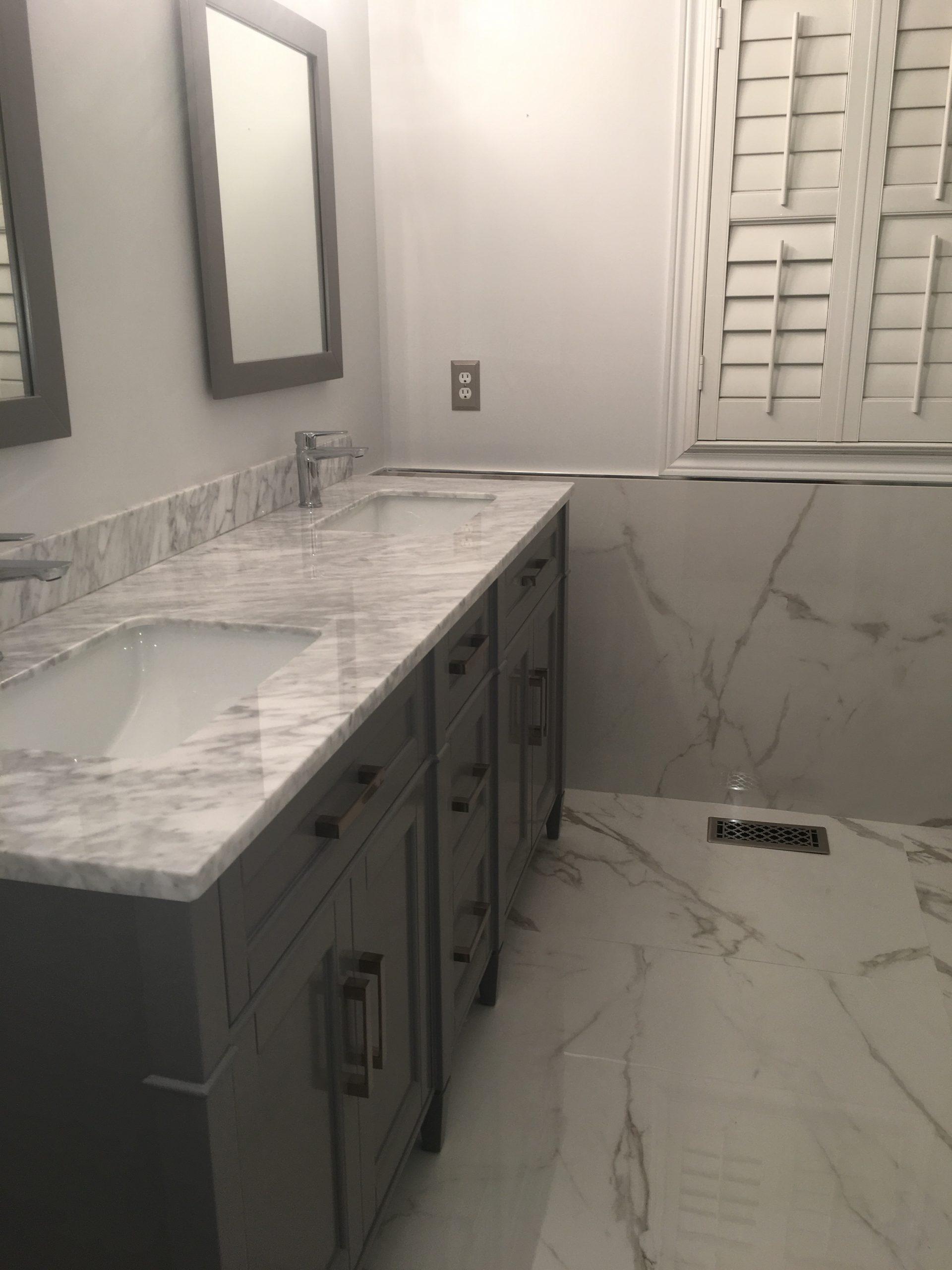 Bathroom Project Bianco Carrara  XL Statuario  Marble