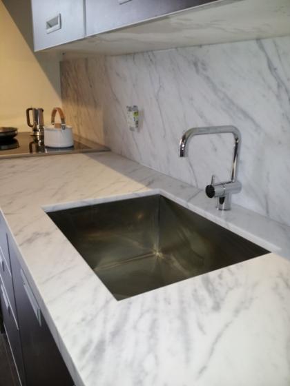 Kitchen Countertop Bianco Venatino  Marble Trend