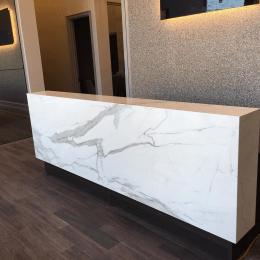 Reception Desk Neolith Estatuario E05  Marble Trend