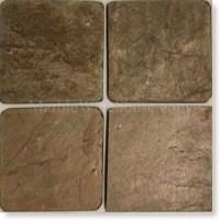 "Copper Slate Tile 6""x6"""