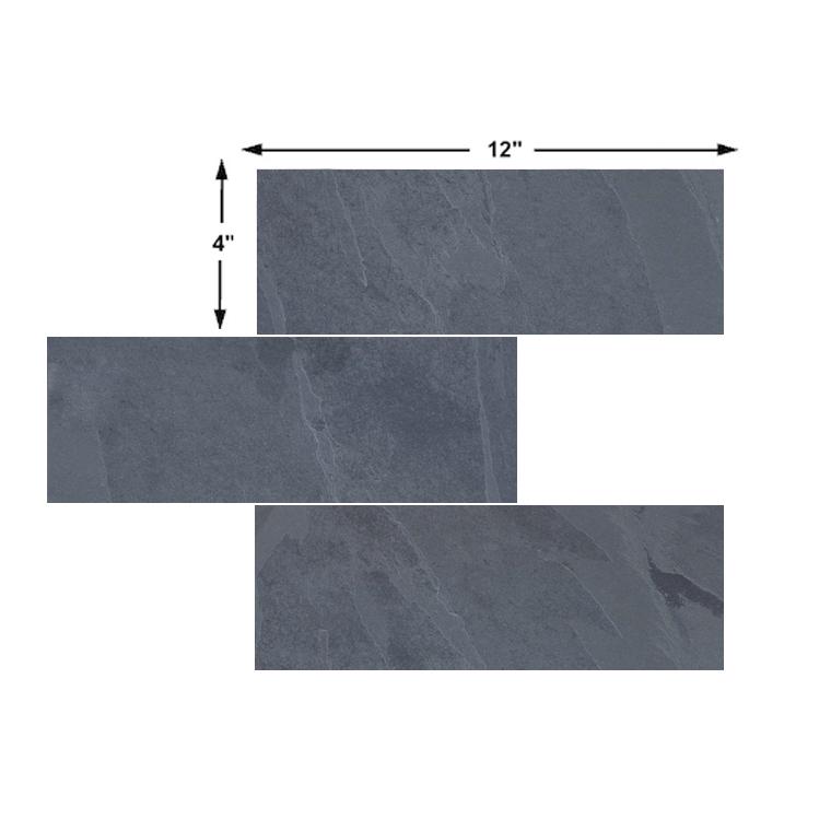 brazilian black montauk black hampshire natural slate tile 4x12