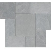 Brazilian Gray ( Montauk Blue ) Cleft Slate Pattern Tile